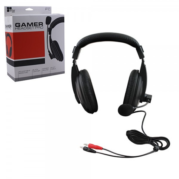 audifonos y microfono gamer headset pro para pc laptop gaming. Black Bedroom Furniture Sets. Home Design Ideas